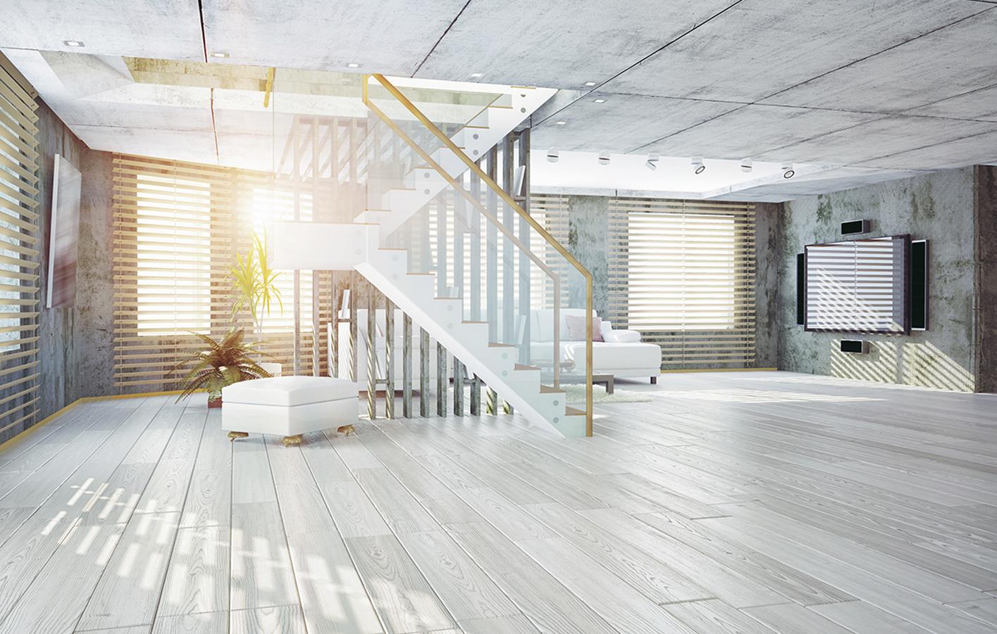 Parkettboden hellgrau  Parkettboden Hellgrau: Wohnzimmer grau freshouse. Laminat eiche ...
